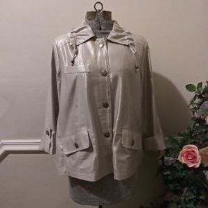 NWOT Ruby Rd. Champagne Jacket With Silver Shine